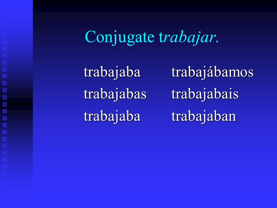 To form the imperfect of -er/-ir verbs, drop the -er/-ir and substitute the following endings: -ía-ías-ía -íamos -íais -ían