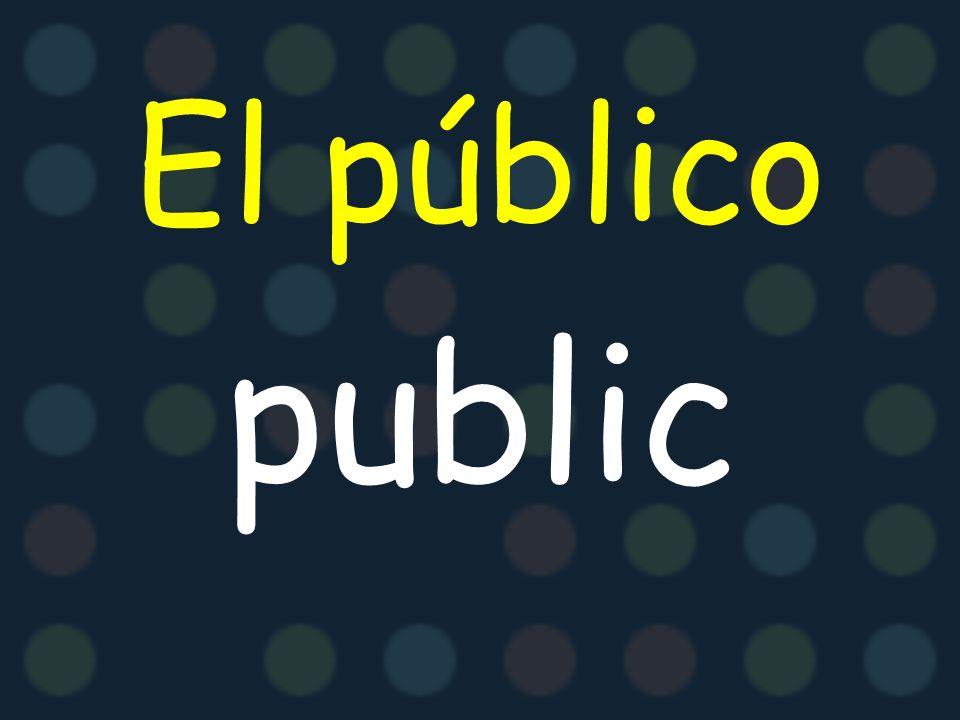 El/la presentador (a) presenter