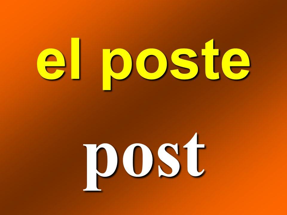 el poste post