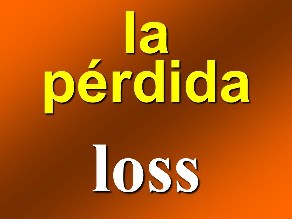 la pérdida loss
