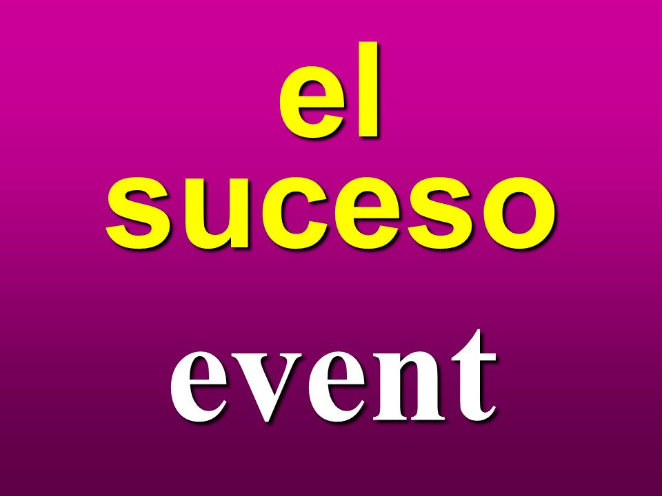 el suceso event