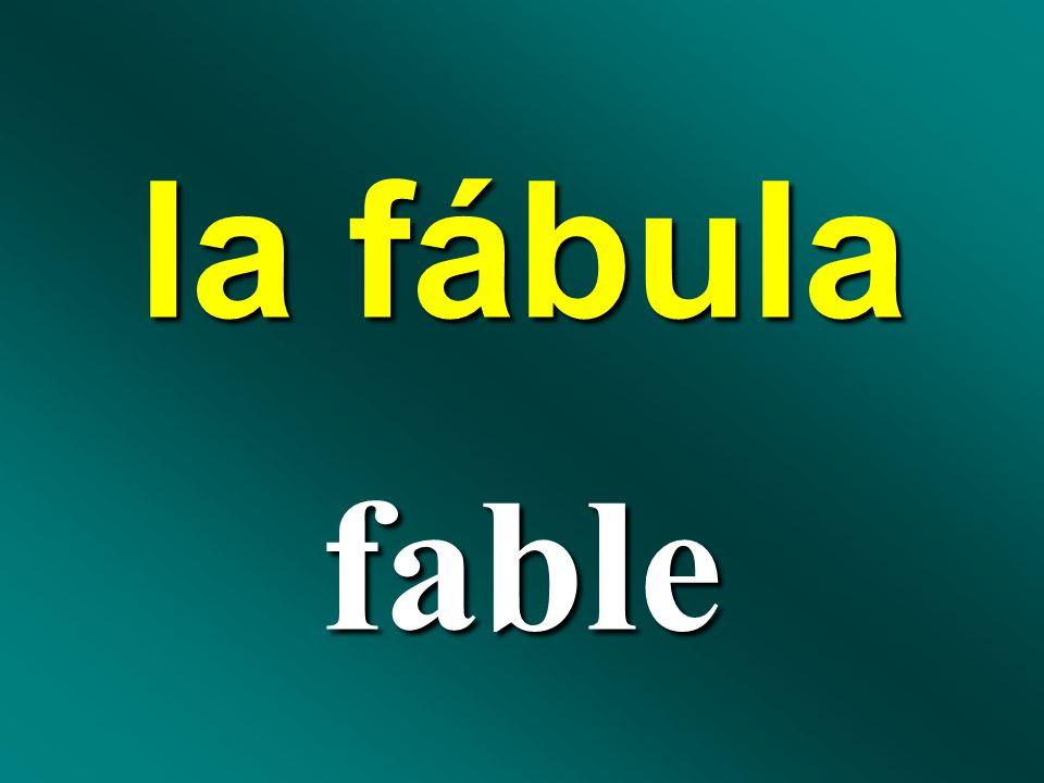 la fábula fable