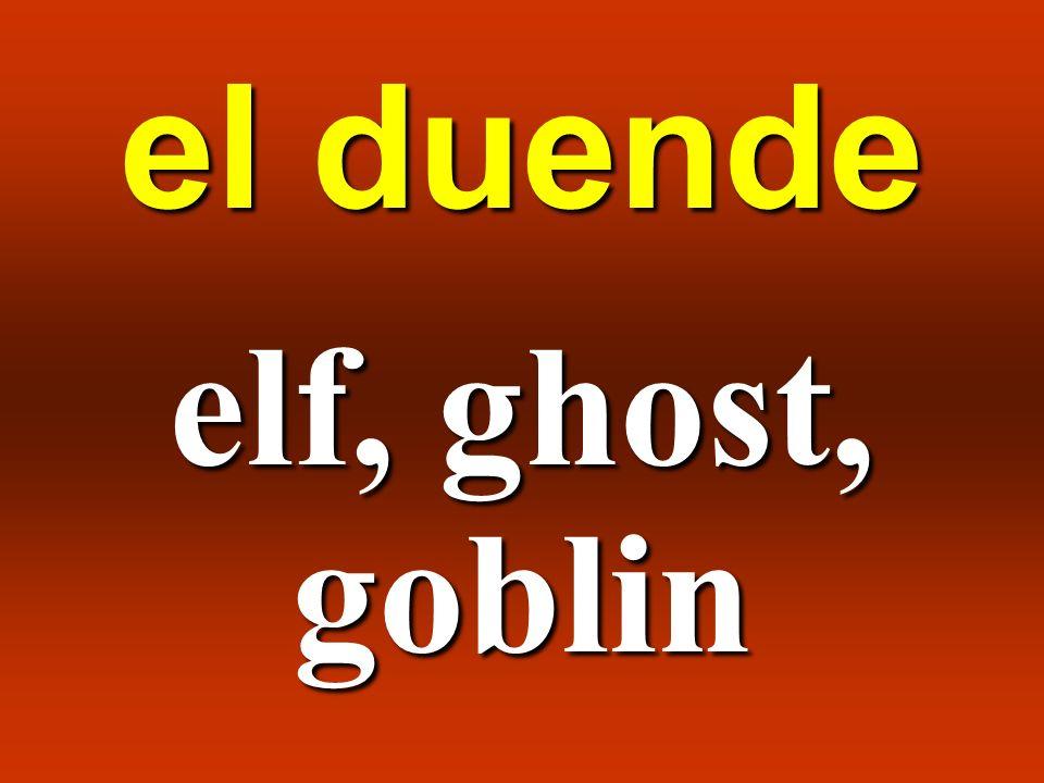 el duende elf, ghost, goblin