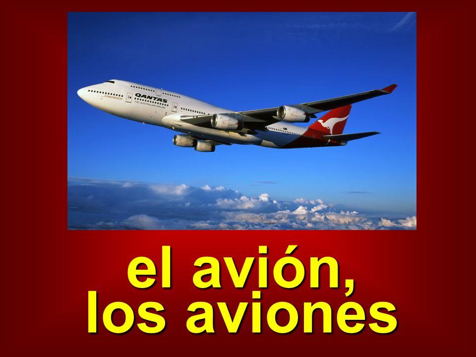 el avión, los aviones