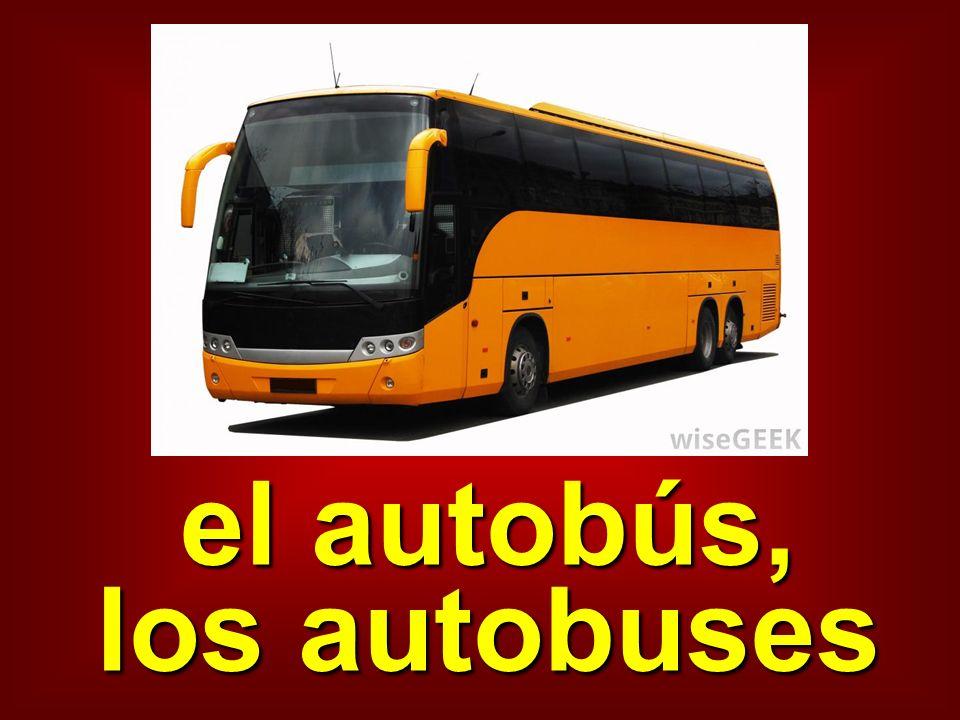 el autobús, los autobuses