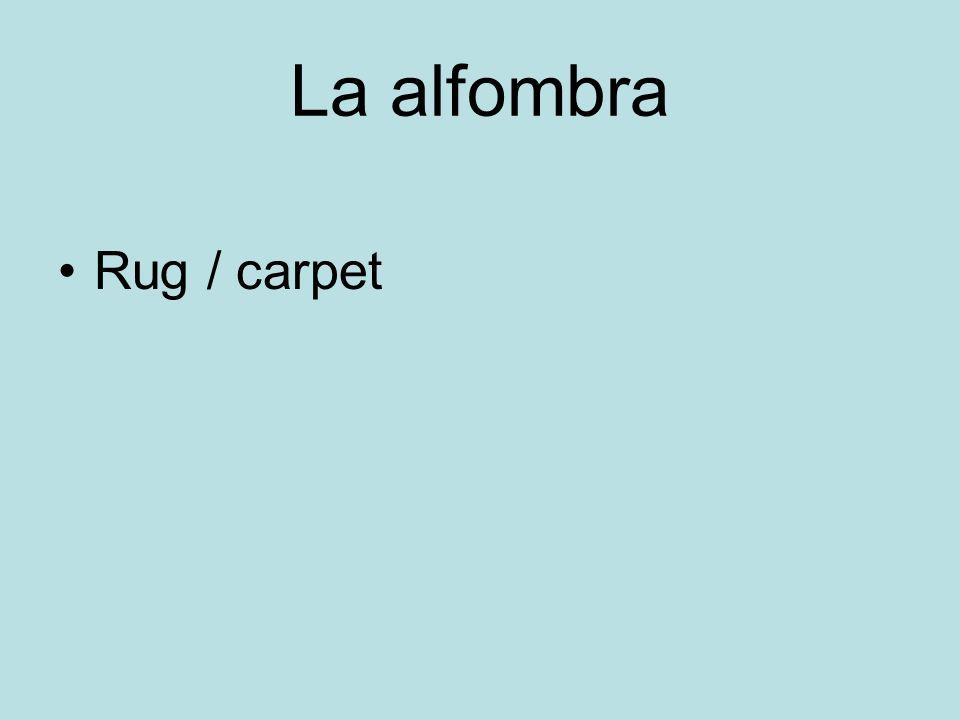 La alfombra Rug / carpet