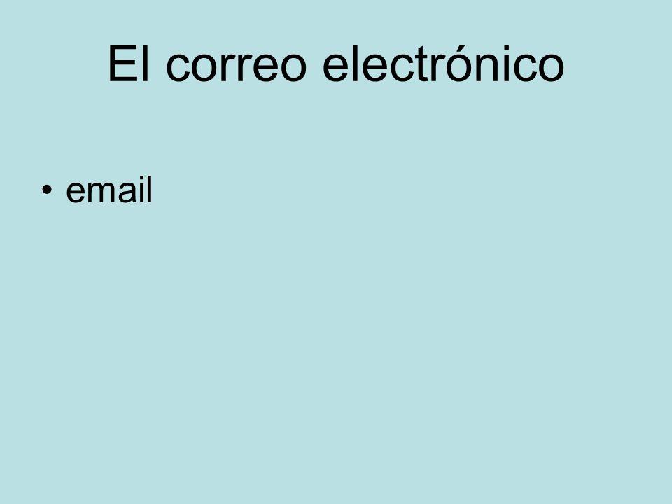 El correo electrónico email