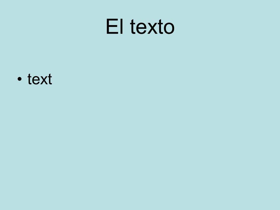 El texto text