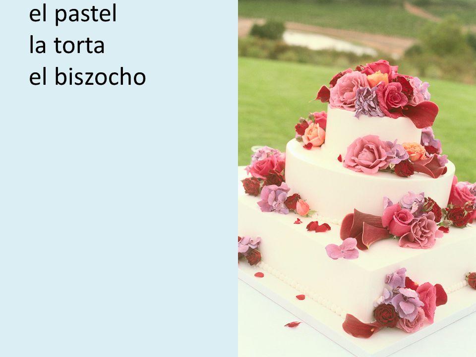 el pastel la torta el biszocho