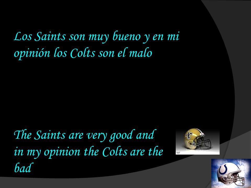Los Saints marcan un touchdown, así que en este momento ellos ganan por 10 puntos The Saints make a touchdown, so right now they are winning by 10 points