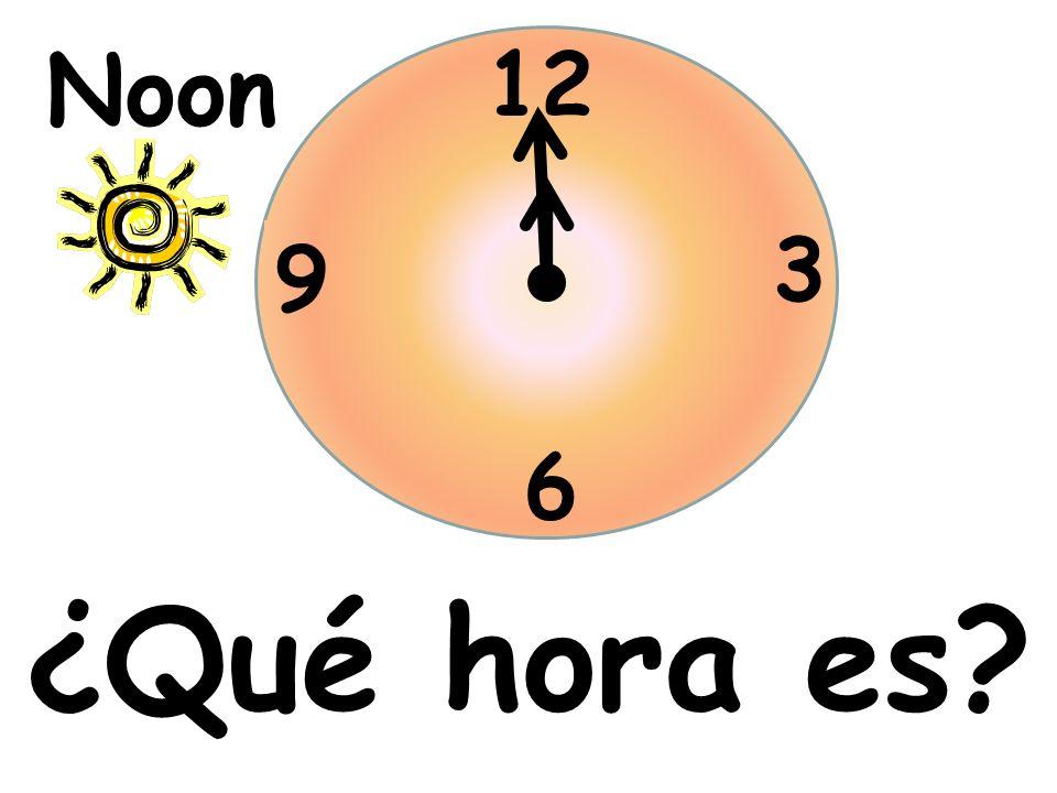 ¿Qué hora es? 12 3 6 9 Noon