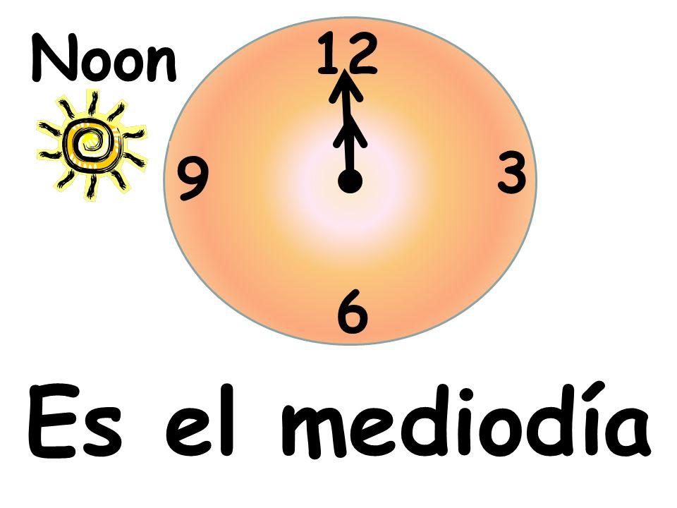 Es el mediodía 12 3 6 9 Noon