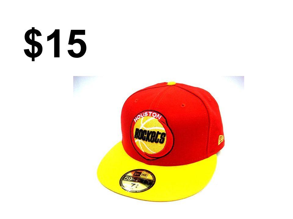 La gorra cuesta quince dólares
