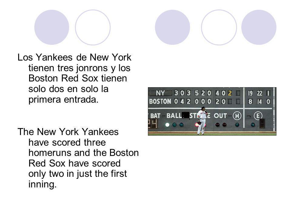 Los Yankees de New York tienen tres jonrons y los Boston Red Sox tienen solo dos en solo la primera entrada.