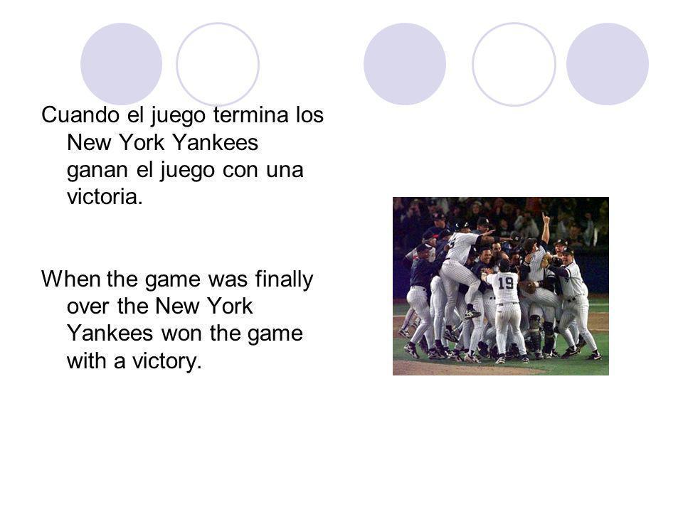 Cuando el juego termina los New York Yankees ganan el juego con una victoria.