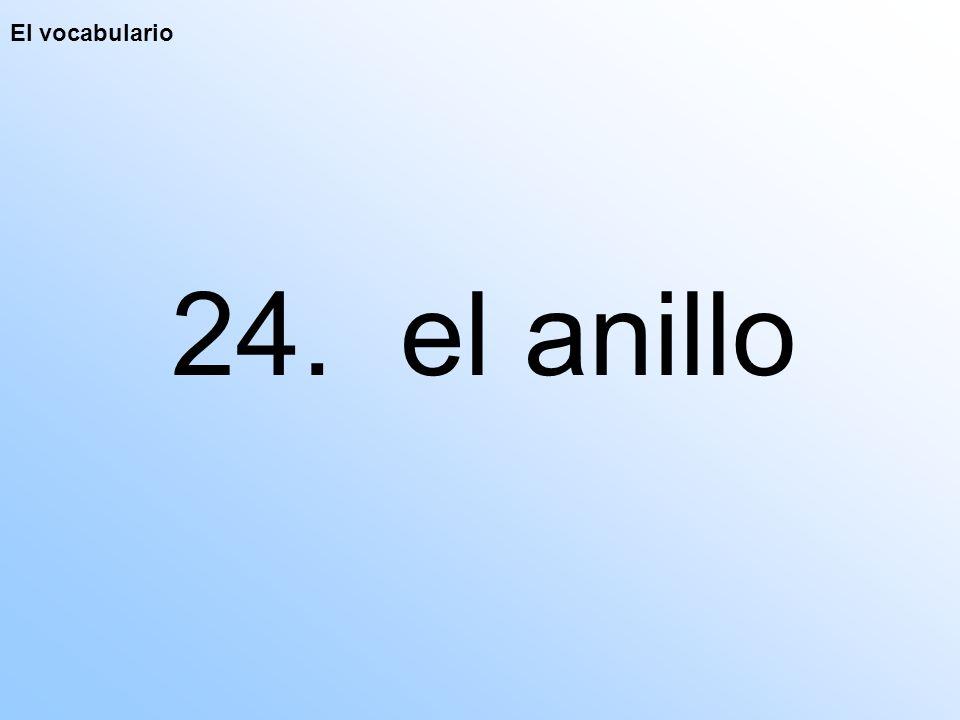El vocabulario 24. el anillo