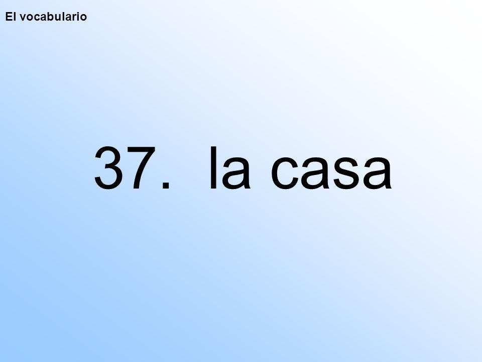 El vocabulario 37. la casa