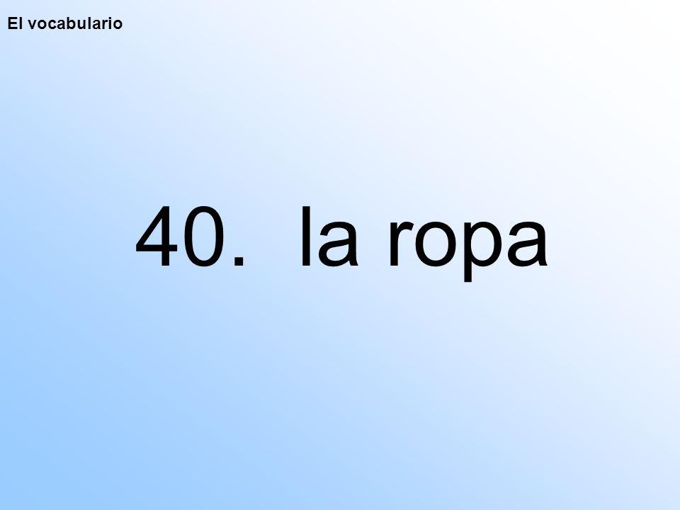 El vocabulario 40. la ropa