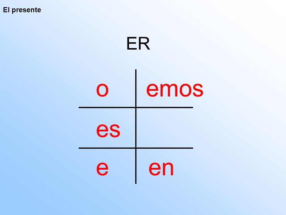 El presente ER o es e emos en