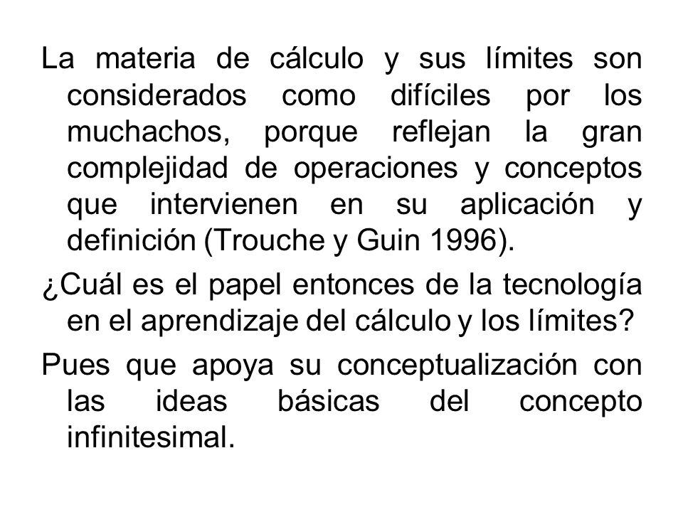 La materia de cálculo y sus límites son considerados como difíciles por los muchachos, porque reflejan la gran complejidad de operaciones y conceptos
