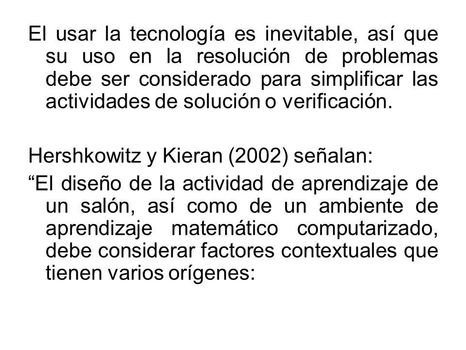 El usar la tecnología es inevitable, así que su uso en la resolución de problemas debe ser considerado para simplificar las actividades de solución o