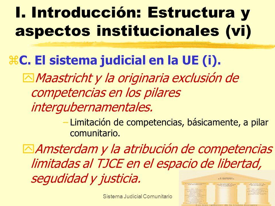 Sistema Judicial Comunitario7 I. Introducción: Estructura y aspectos institucionales (vi) zC. El sistema judicial en la UE (i). yMaastricht y la origi