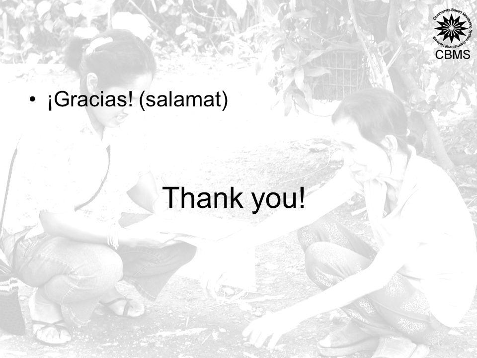 Thank you! ¡Gracias! (salamat)