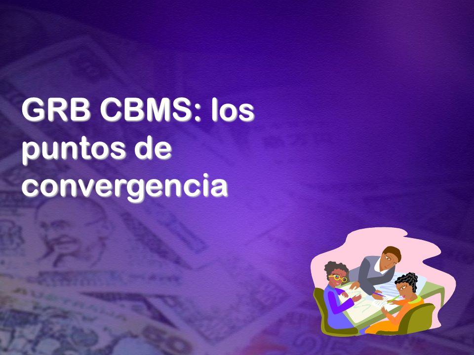 GRB CBMS: los puntos de convergencia
