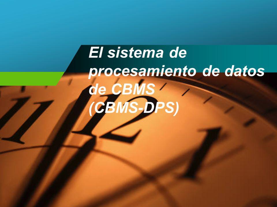 Procesamiento de datos de CBMS Procesamiento de datos (formato manual) Procesamiento de datos (por ordenador) Una combinación