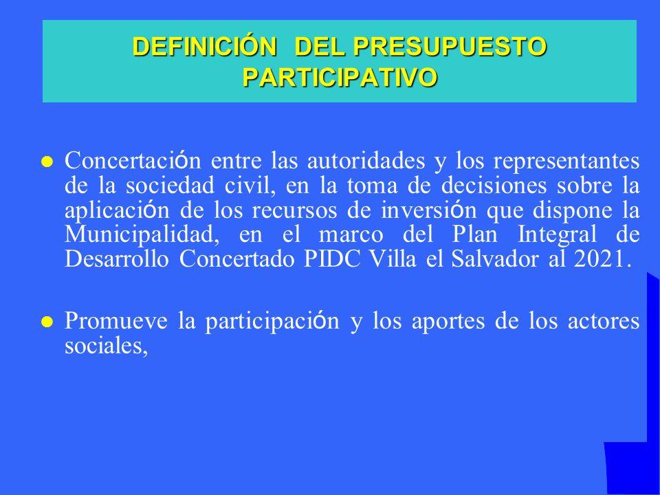 La división de VES en nueve territorios permite: La participación ciudadana desde sus organizaciones de base e intermedias.
