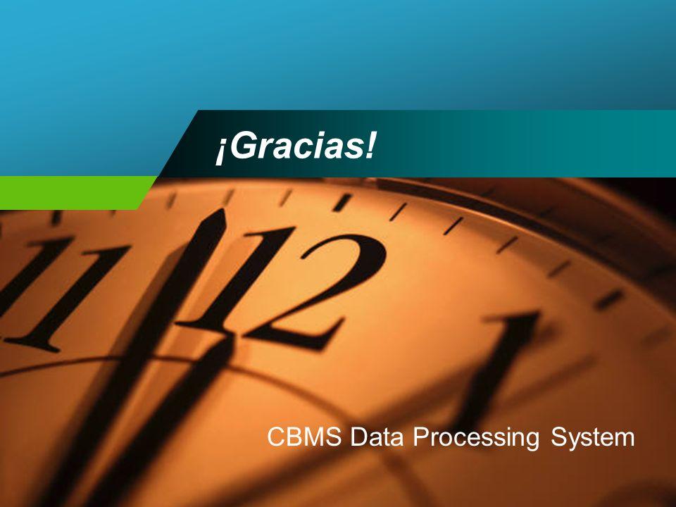 ¡Gracias! CBMS Data Processing System