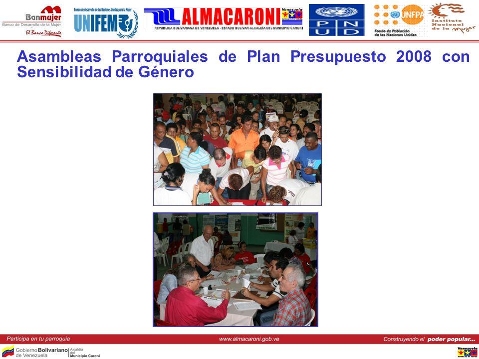 Asambleas Parroquiales de Plan Presupuesto 2008 con Sensibilidad de Género
