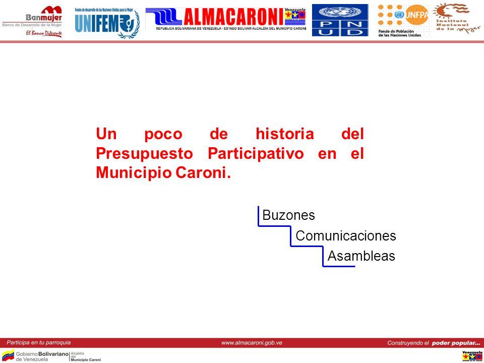 Un poco de historia del Presupuesto Participativo en el Municipio Caroni. Buzones Comunicaciones Asambleas