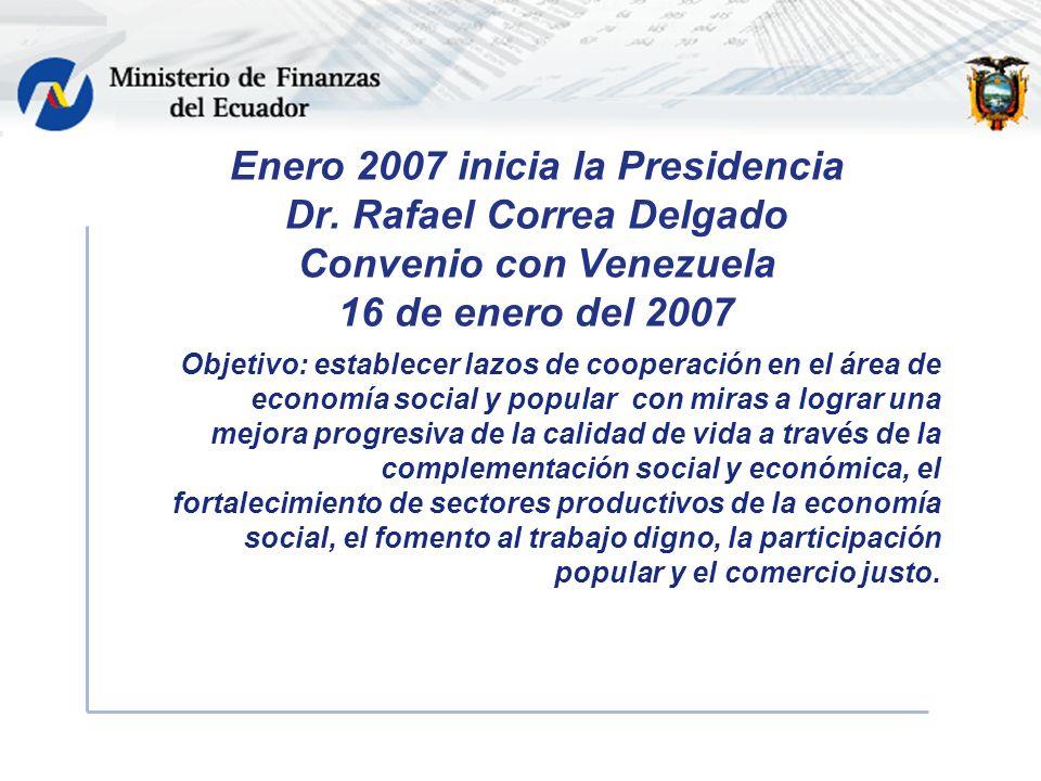 Enero 2007 inicia la Presidencia Dr.