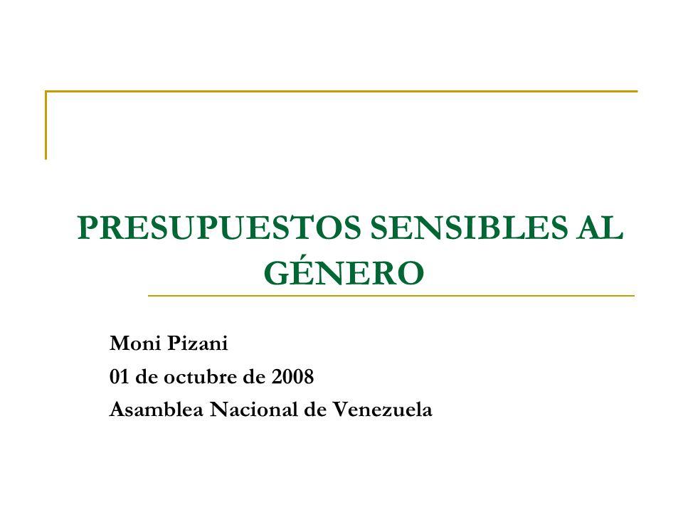 Agenda Género Concepto Características Presupuestos Sensibles al Género Concepto Características Objetivos Presupuestos Sensibles al Género en Venezuela Presupuestos Sensibles al Género y la Asamblea Nacional