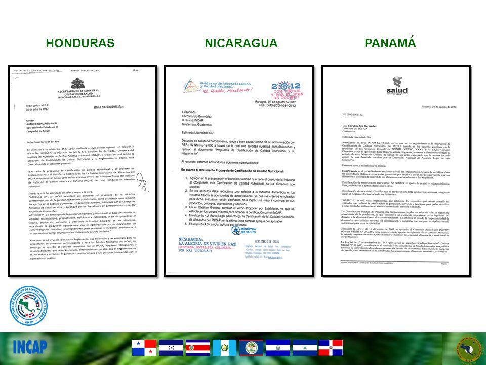 PANAMÁNICARAGUAHONDURAS