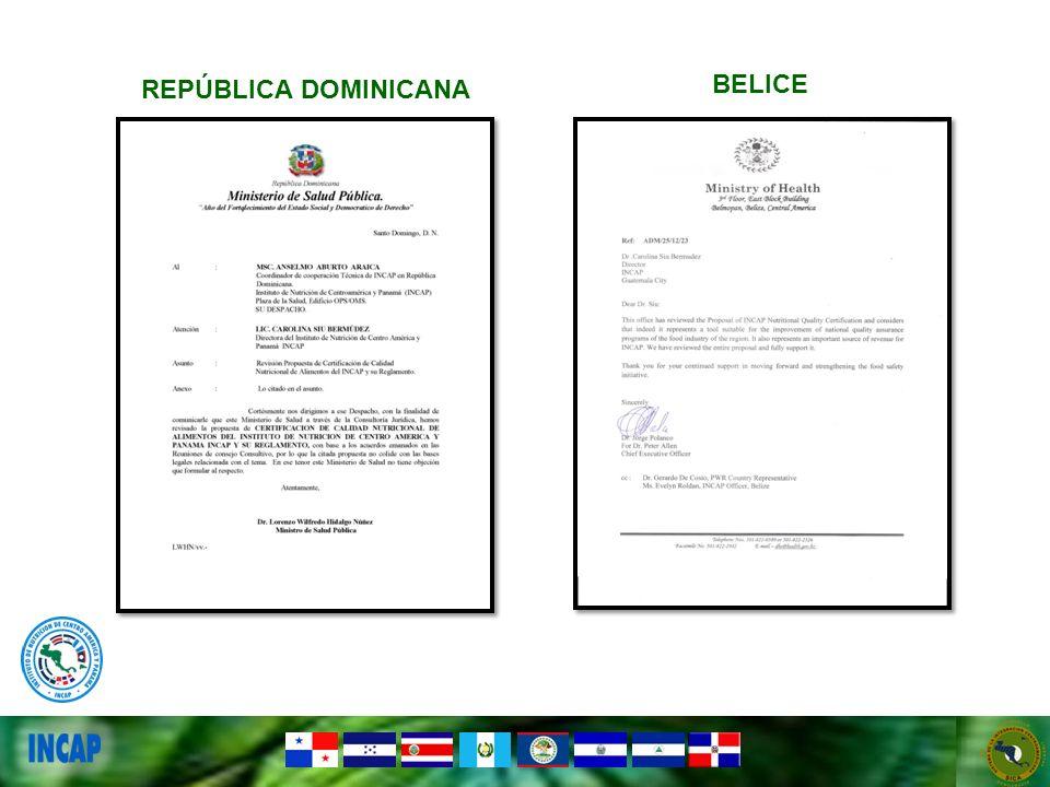 REPÚBLICA DOMINICANA BELICE