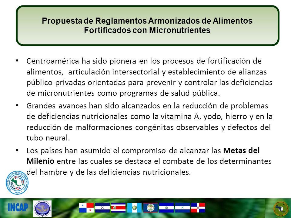 Centroamérica ha sido pionera en los procesos de fortificación de alimentos, articulación intersectorial y establecimiento de alianzas público-privada