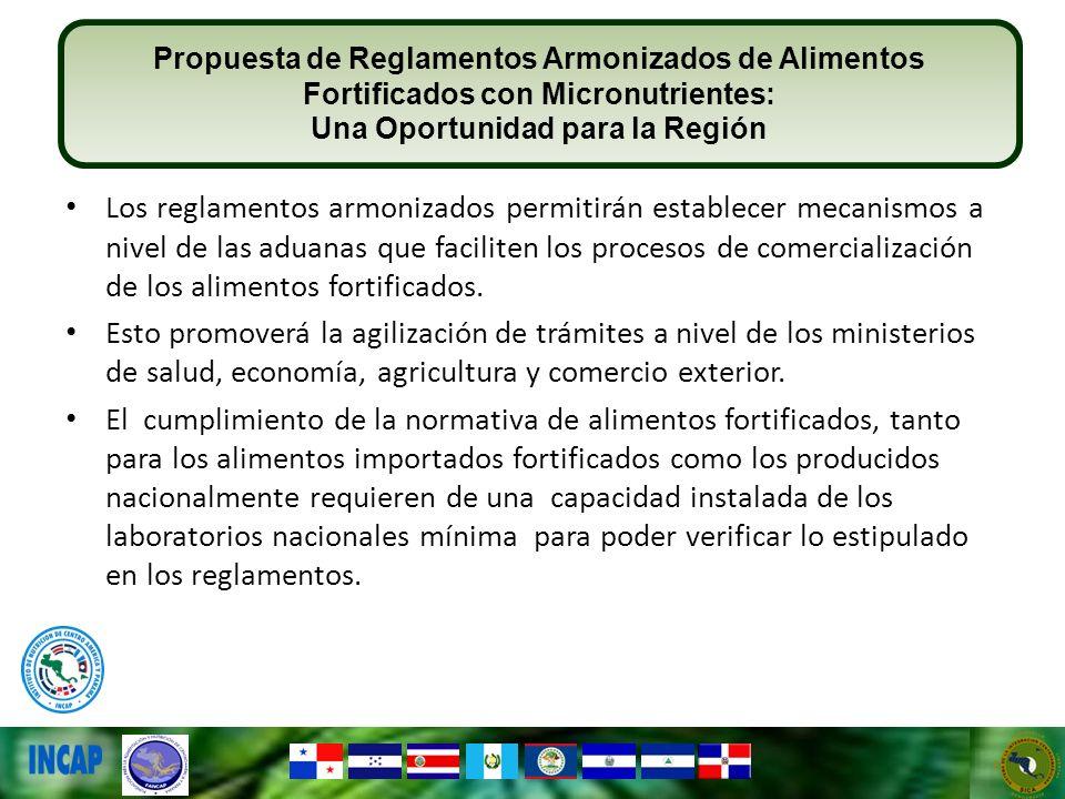 Los reglamentos armonizados permitirán establecer mecanismos a nivel de las aduanas que faciliten los procesos de comercialización de los alimentos fo