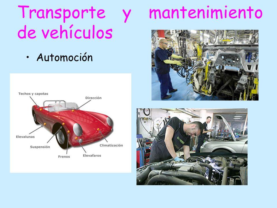 Transporte y mantenimiento de vehículos Automoción
