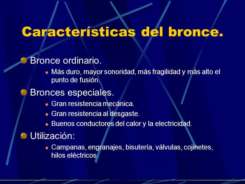 Características del bronce.Bronce ordinario.