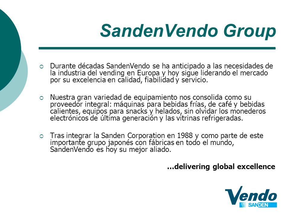 Durante décadas SandenVendo se ha anticipado a las necesidades de la industria del vending en Europa y hoy sigue liderando el mercado por su excelenci