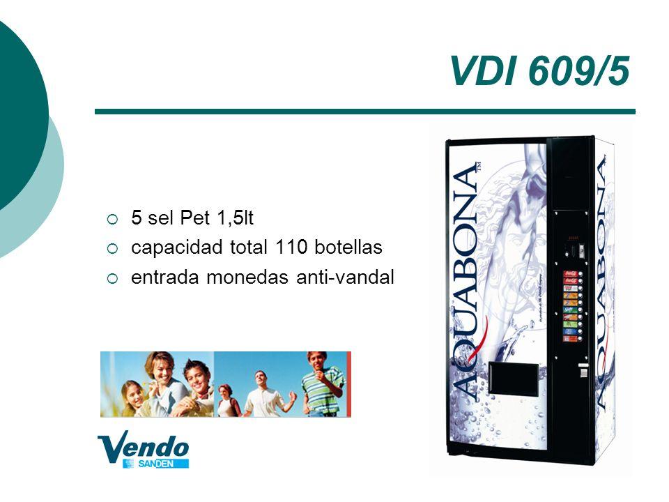 VDI 609/5 5 sel Pet 1,5lt capacidad total 110 botellas entrada monedas anti-vandal