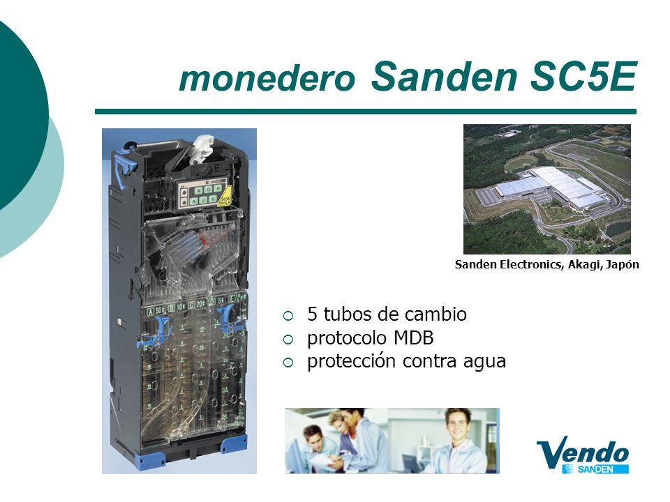 monedero Sanden SC5E 5 tubos de cambio protocolo MDB protección contra agua Sanden Electronics, Akagi, Japón