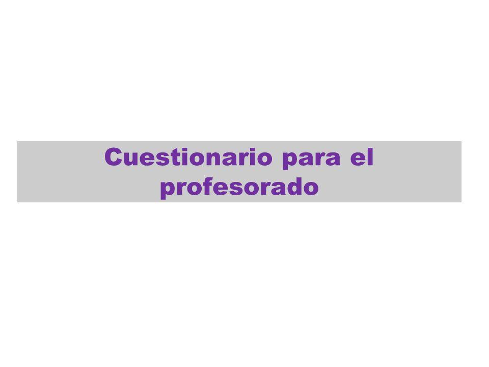 Cuestionario para el profesorado