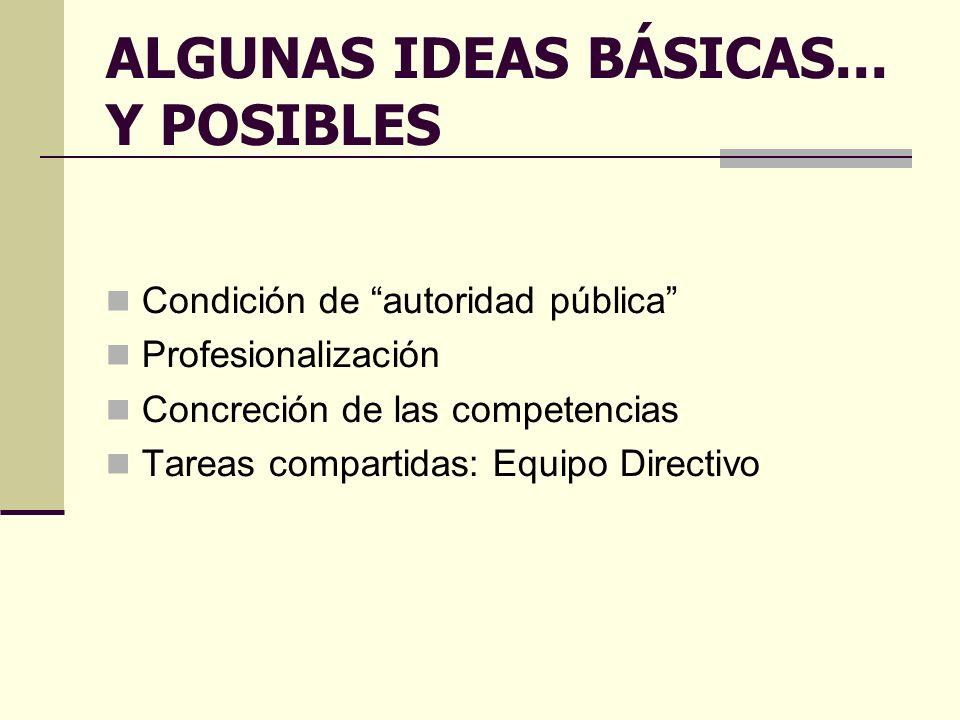 ALGUNAS IDEAS BÁSICAS...