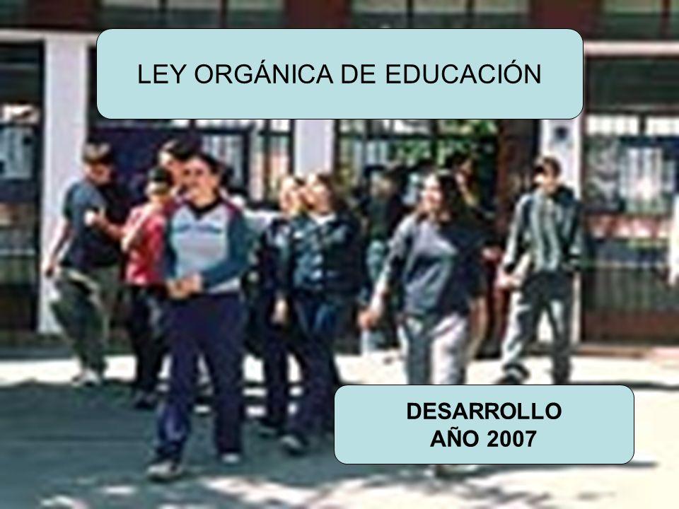 URUNAJP LEY ORGÁNICA DE EDUCACIÓN DESARROLLO AÑO 2007