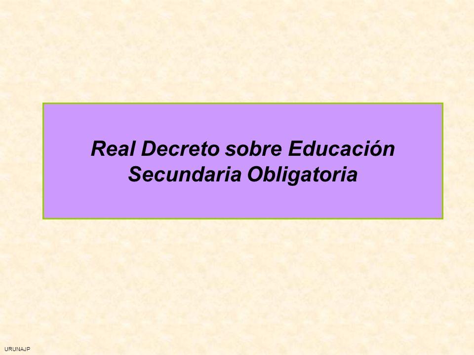 URUNAJP Real Decreto sobre Educación Secundaria Obligatoria