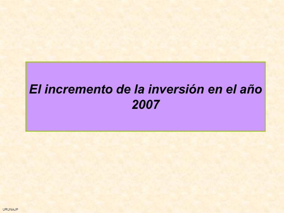 URUNAJP El incremento de la inversión en el año 2007