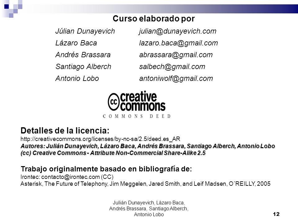 12 Curso elaborado por Júlian Dunayevichjulian@dunayevich.com Lázaro Baca lazaro.baca@gmail.com Andrés Brassaraabrassara@gmail.com Santiago Alberch sa
